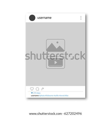 Social network photo frame vector illustration. Vector illustration
