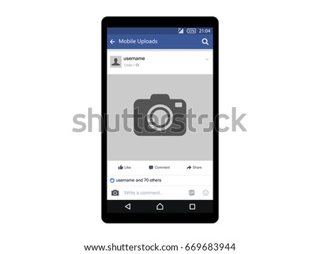social network photo frame