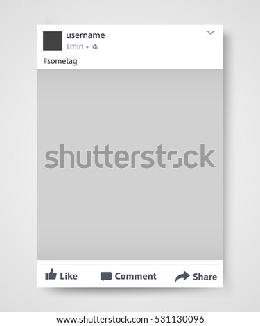 Social network post frame. Facebook. Vector illustration