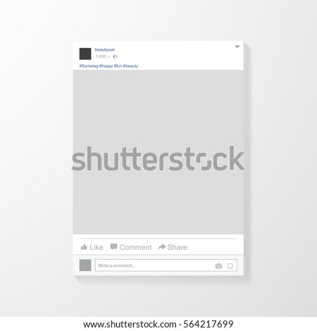 social network post frame