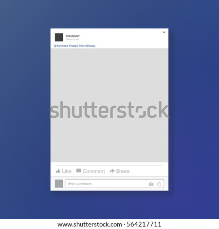 Social network post frame. Facebook. Vector illustration