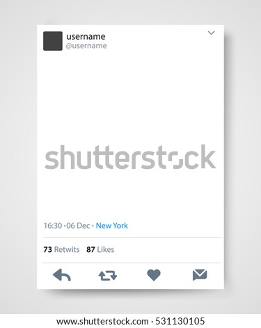 Social network post frame. Twitter. Vector illustration