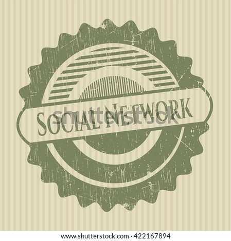 Social Network rubber grunge texture stamp