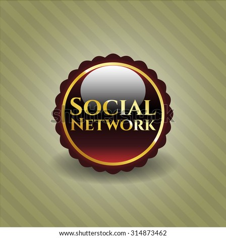 Social Network shiny badge