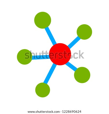 Social network single icon. Global technology or social network