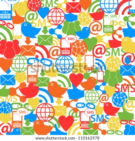 Social network symbols as background