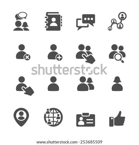 social network user icon set, vector eps10.