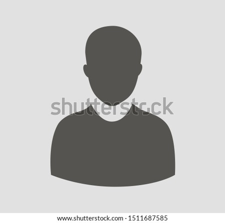 Social network Users vector icon. One person.