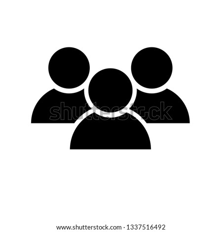 Social network Users vector icon. Three persons. Foto stock ©
