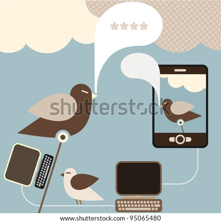 Social Network - vector concept for social media. Vector EPS and High resolution JPG file included.