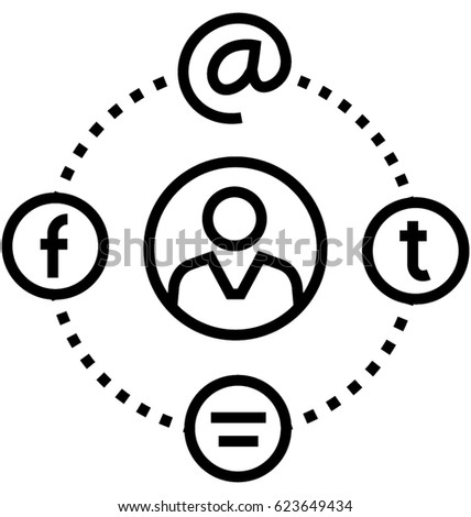Social Network Vector Icon