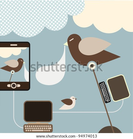 Social Network - vector illustration. Concept illustration visualizing a social networking.