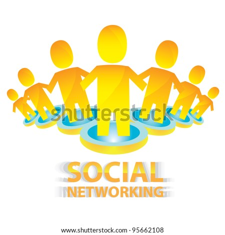 social networking color abstract logo. vector illustration of social media.