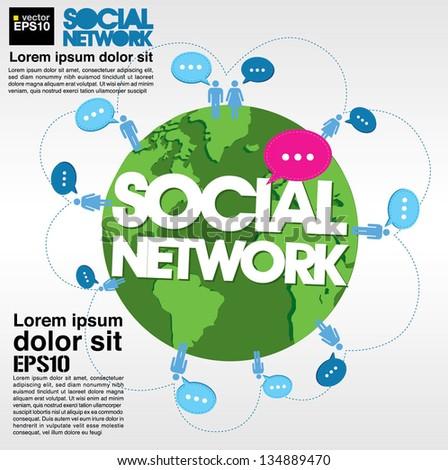 social networking conceptual