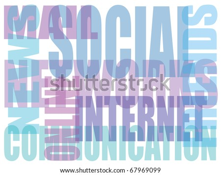 Social networks and social media related words