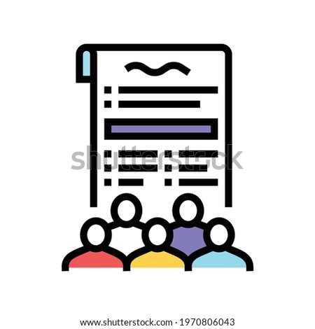social norms law dictionary color icon vector. social norms law dictionary sign. isolated symbol illustration Photo stock ©