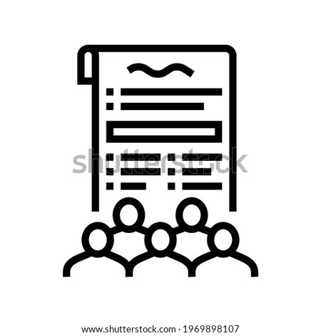 social norms law dictionary line icon vector. social norms law dictionary sign. isolated contour symbol black illustration Photo stock ©