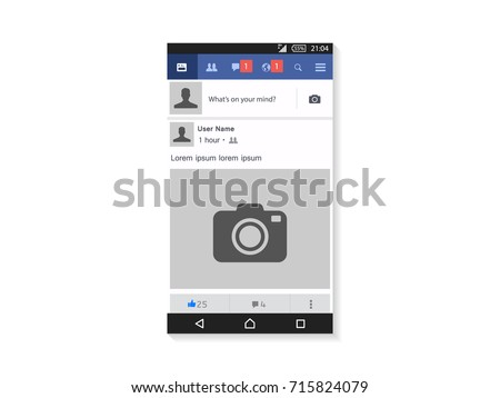 Social page interface concept vector