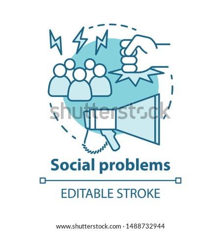 social problems concept icon