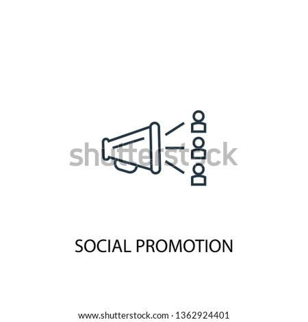 social promotion concept line icon. Simple element illustration. social promotion concept outline symbol design. Can be used for web and mobile UI/UX