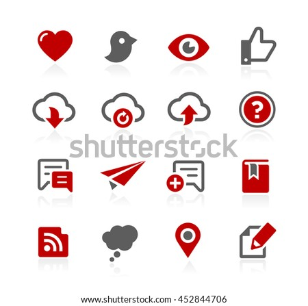 Social Sharing and Communications Vector Icons