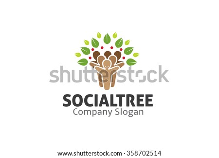 Social Tree Logo Symbol Design Illustration