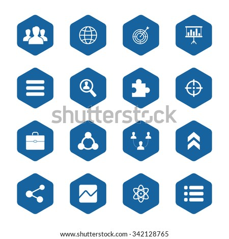 Social vector icons set for web and mobile