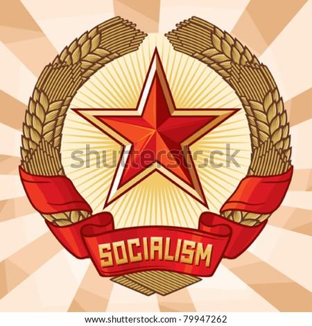 socialism emblem  a symbol of