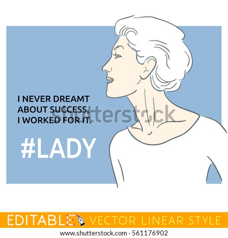 socialite lady about success