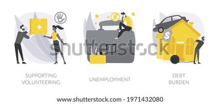 Socio-economic outbreak impact abstract concept vector illustrations. Zdjęcia stock ©