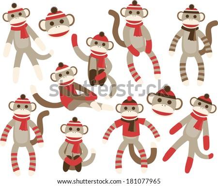 Sock Monkeys - Red