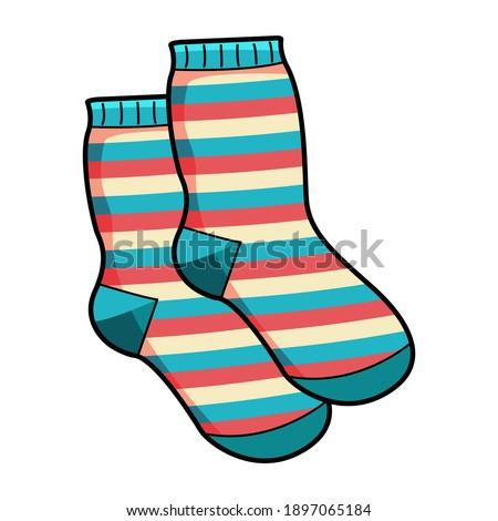 Socks background. Socks flat icon.