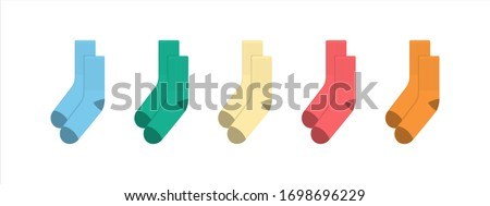 Socks for adults and children. Kids colorful rainbow socks. Child clothing and apparel. Kid fashion. Socks set.