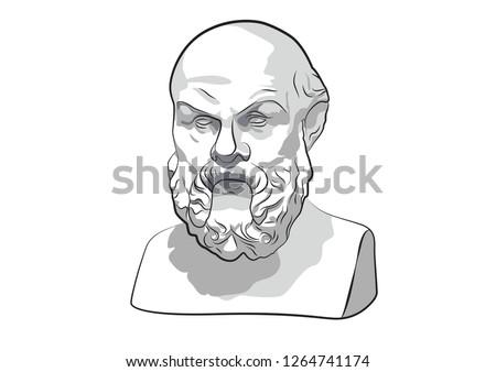 Socrates Sokrat Ancient Greek Athenes Ancient philosophy Classical Greek philosophy philosopher Attic orator Sokrates vector sculpture statue