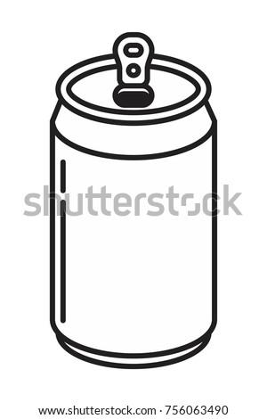 soda aluminum bottle can icon in flat style vector illustration
