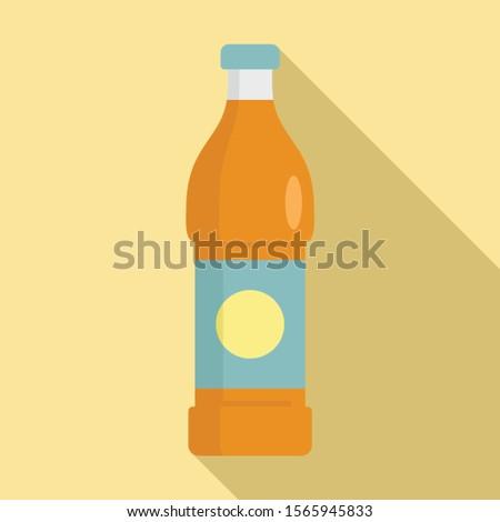 Soda beverage icon. Flat illustration of soda beverage vector icon for web design