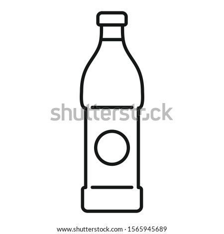 Soda beverage icon. Outline soda beverage vector icon for web design isolated on white background