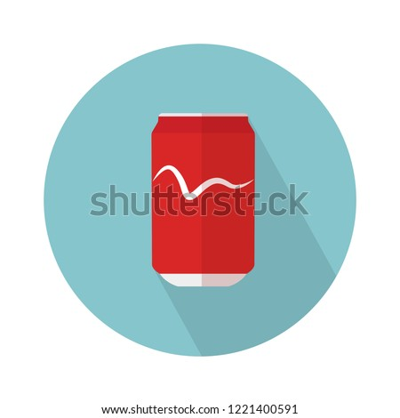 soda can icon. Flat illustration of aluminum can. soda tin isolated on white background. cola sign symbol