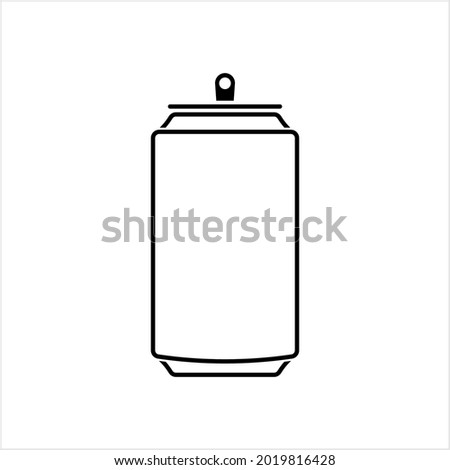 Soda Can Icon, Tin Can, Beer Can Icon, Cold Drink Can Icon Vector Art Illustration Foto stock ©