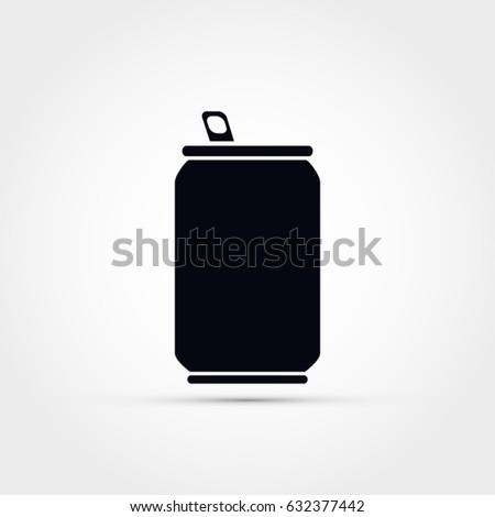 Soda can vector icon
