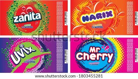 Soda label designs for alluminium can Stockfoto ©