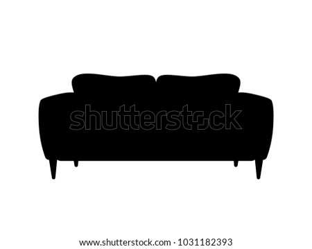 black couch graphics - download free vector art, stock graphics & images