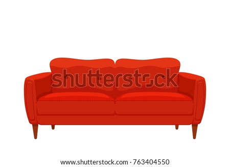 sofa and couch red colorful