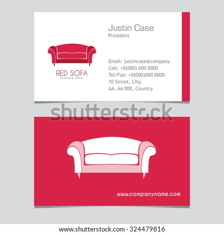 Royalty free sofa business sign business card for Home decor business names