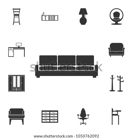 sofa  icon. Detailed set of furniture icons. Premium quality graphic design. One of the collection icons for websites, web design, mobile app on white background