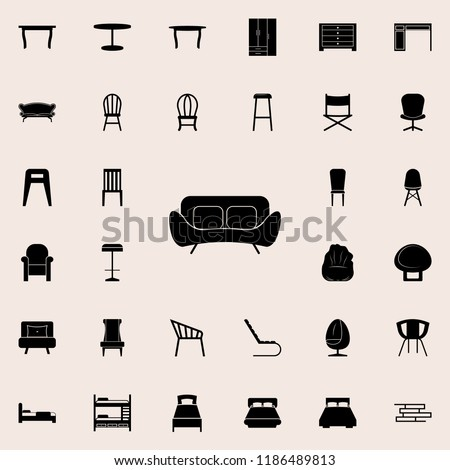 sofa icon. Furniture icons universal set for web and mobile