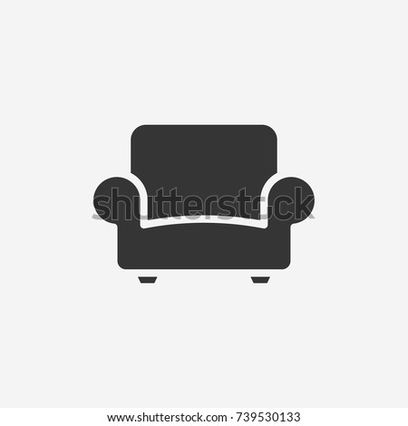 Sofa icon illustration isolated vector sign symbol