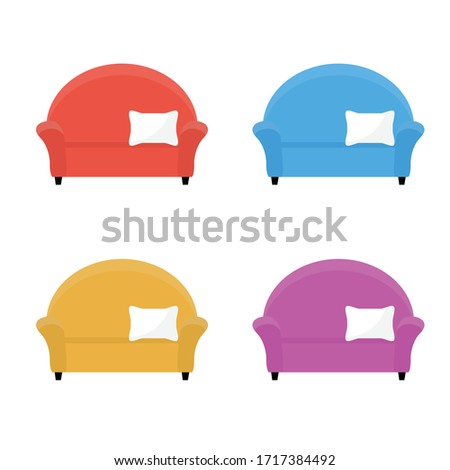 sofa   icon set. couch sign vector Foto stock ©