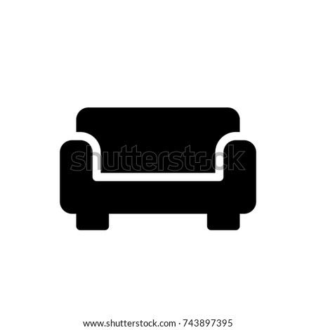 Sofa Icon, Sofa icon vector, in trendy flat style isolated on white background. Sofa icon image, Sofa icon illustration