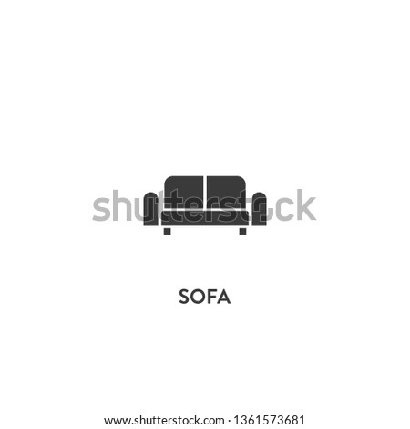 sofa icon vector. sofa sign on white background. sofa icon for web and app
